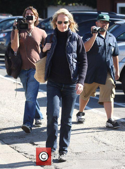 Helen Hunt leaving the Country Mart in Brentwood...