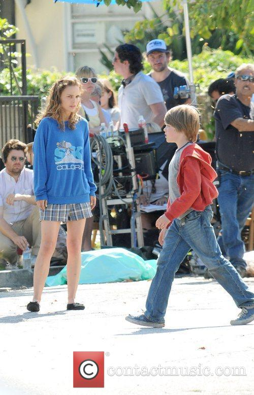 Natalie Portman filming on location for the upcoming...