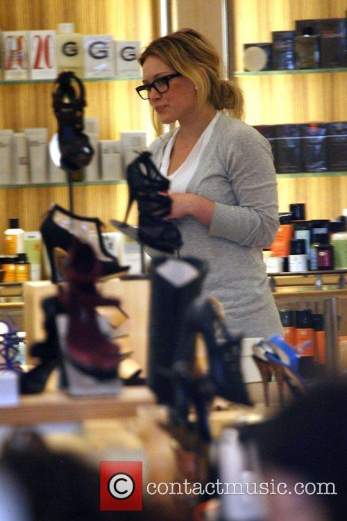 Hilary Duff shopping for shoes at Barney's New...