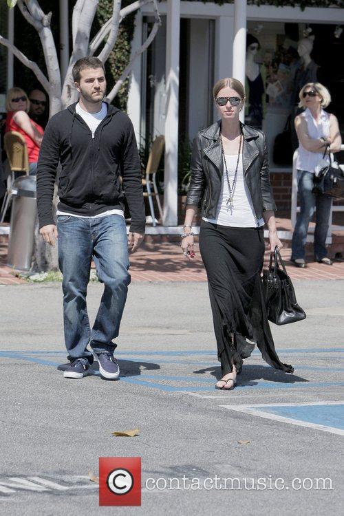 David Katzenberg and Nicky Hilton leaving Fred Segal...