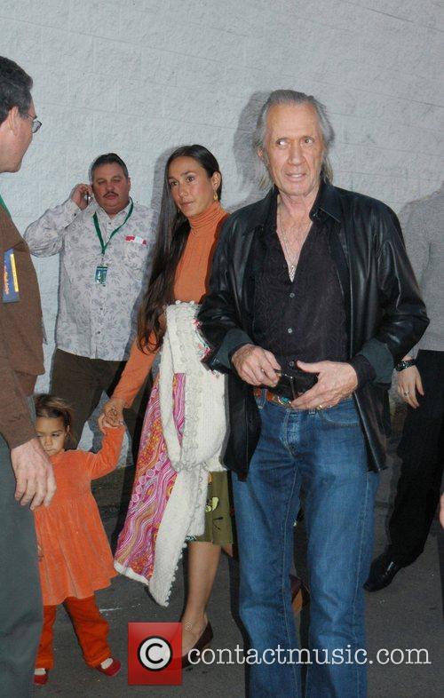 David Carradine at the Hollywood Santa's Parade Los...