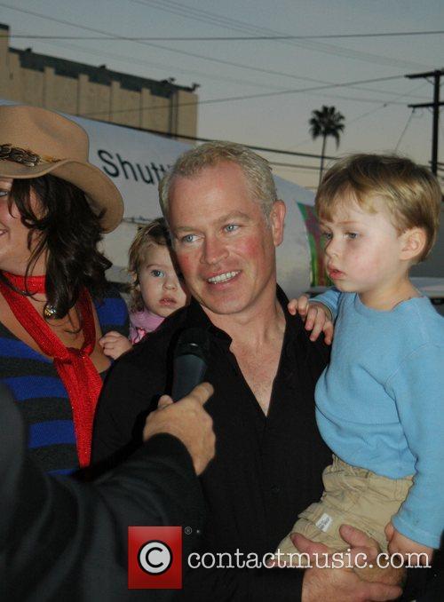 Neal McDonough at the Hollywood Santa's Parade Los...