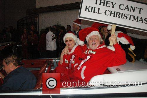 Santas at the Hollywood Santa's Parade Los Angeles,...