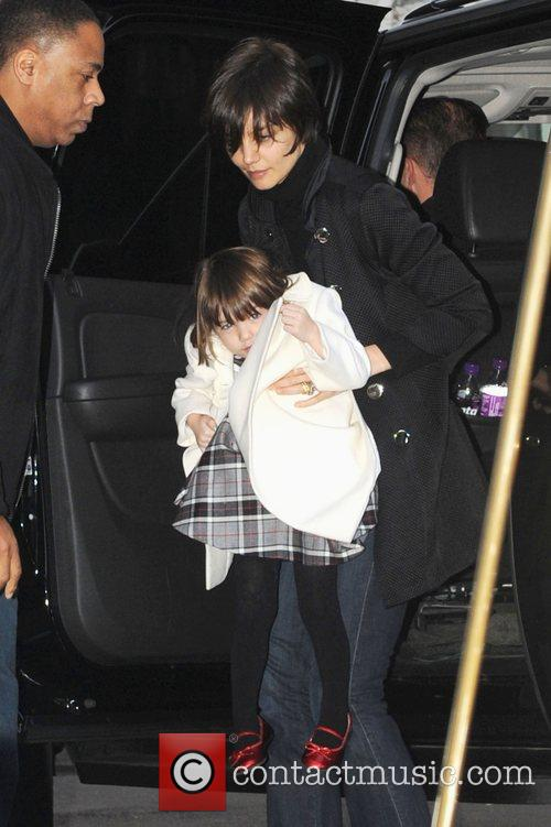 Suri Cruise and Katie Holmes visit a private...