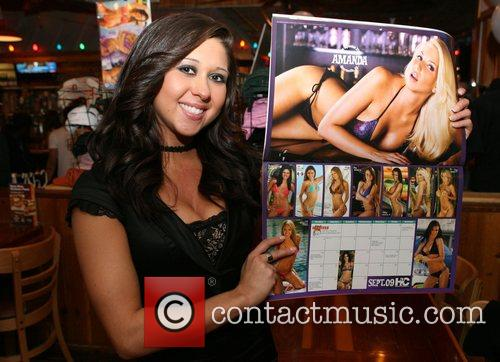 Christina Perez 2009 Hooters Swimsuit Calendar launch at...