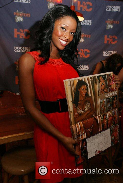 2009 Hooters Swimsuit Calendar launch at the Manhattan...