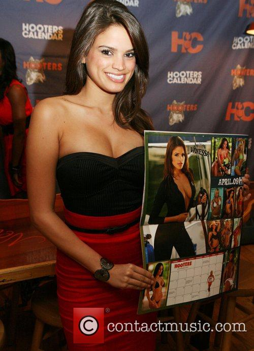 Vanessa Ferbeyre 2009 Hooters Swimsuit Calendar launch at...