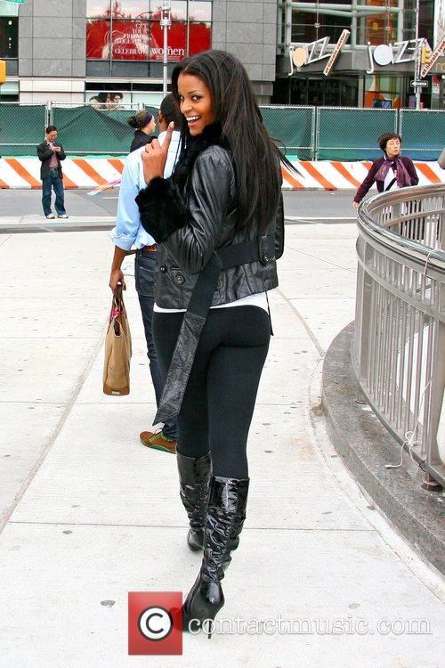 Claudia Jordan from 'Deal or No Deal' outside...