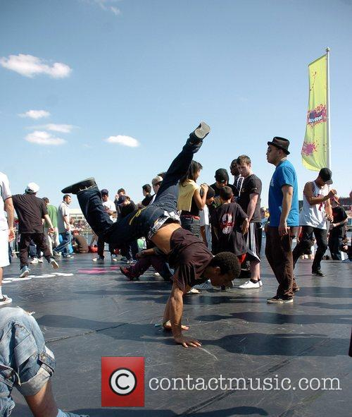 Breakdancers Perform At The Hub Festival Held At Wellington Dock 1