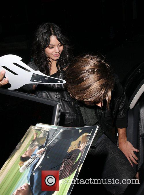 Zac Efron and Vanessa Hudgens leaving a Lakers...