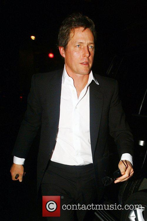 Hugh Grant arriving at Claridges Hotel