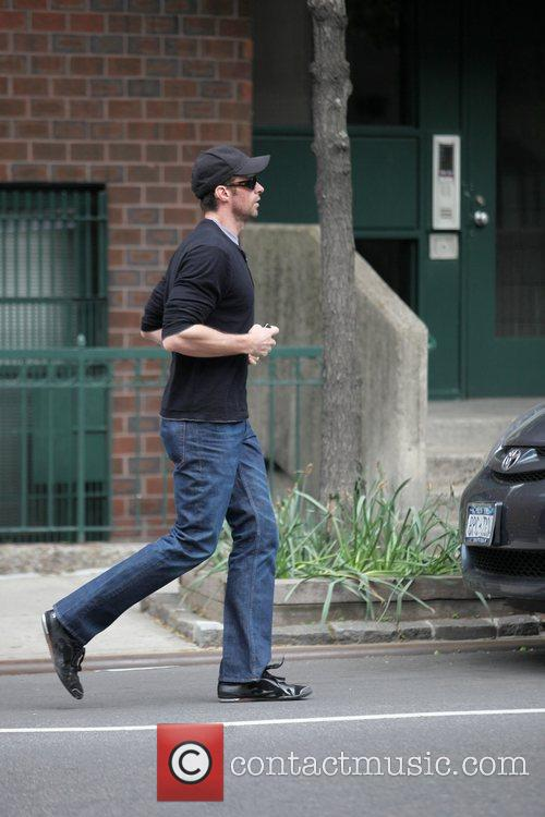 Hugh Jackman takes an afternoon stroll in SoHo...