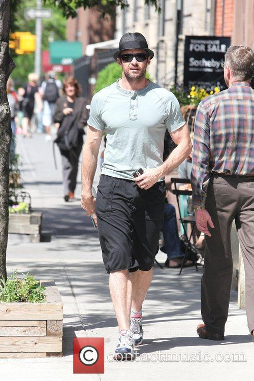 Hugh Jackman out ang about in Manhattan New...