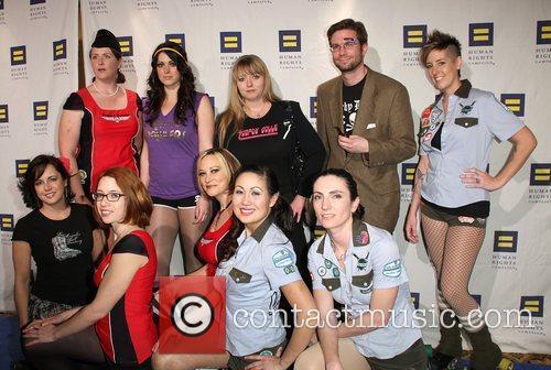 LA Derby Dolls Human Rights Campaign's annual gala...