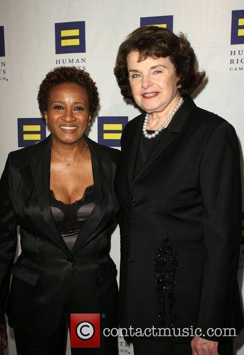 Wanda Sykes and Dianne Feinstein Human Rights Campaign's...