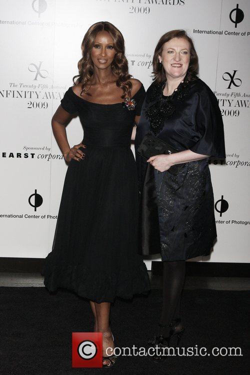 Iman and Harper's Bazaar editor-in-chief Glenda Bailey...