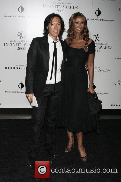 Stephen Gan and Iman 25th annual Infinity Awards...