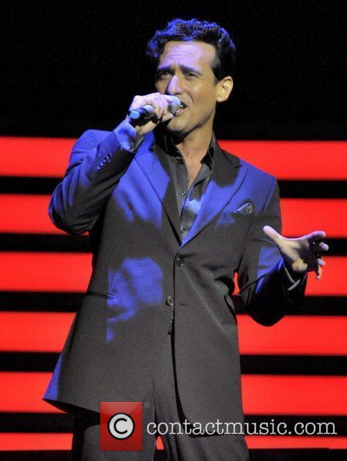 Carlos Marin IL Divo performing live on stage...