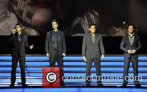 IL Divo performing live on stage at the...