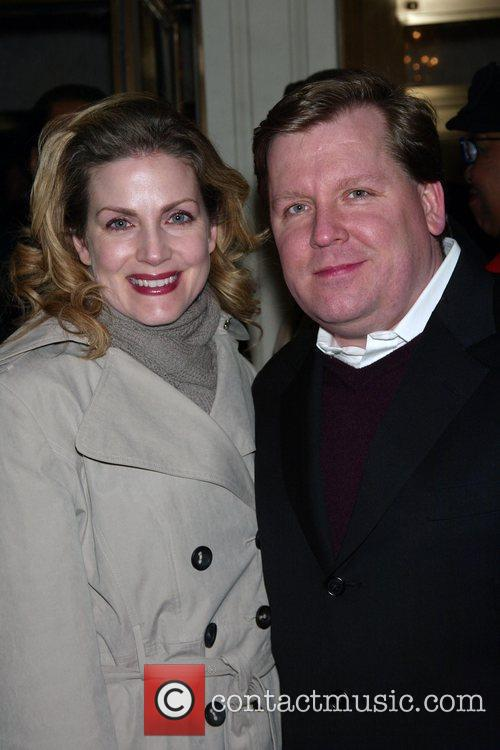 David Lindsay-Abaire and his wife Christine Opening Night...