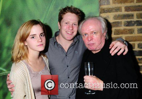 Emma Watson, Tom Attenborough and Director Michael Attenborough Attend The 'in A Dark Dark House' Press Night Held At The Almedia Theatre.