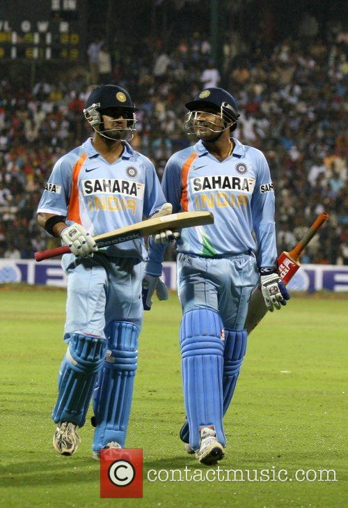 Virender Sehwag and Gautam Gambhir 4th ODI England...