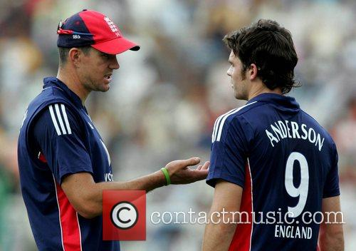 Kevin Pietersen and James Anderson playing for England...