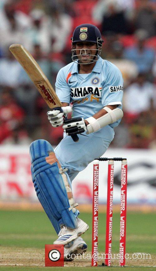 Sachin Tandulkar playing for India in the Fourth...
