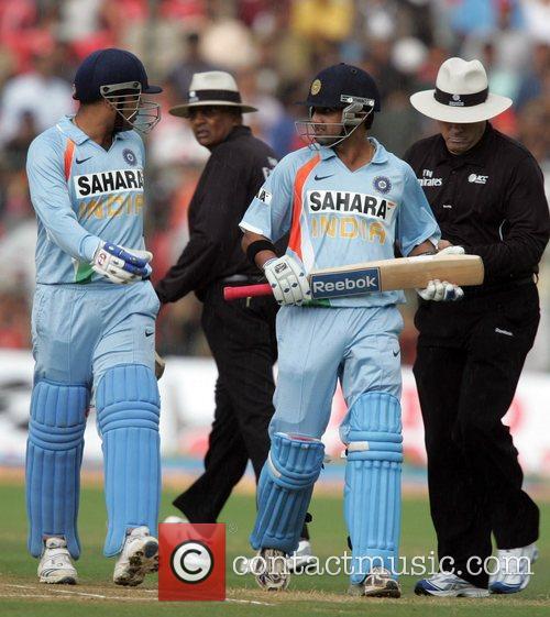 Virender Sehwag and Gautam Gambhir playing for India...