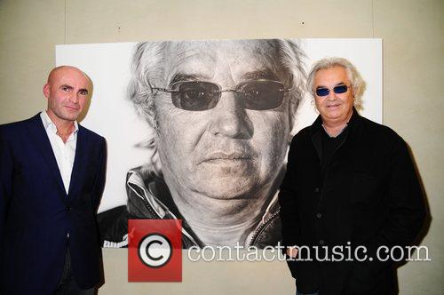 Artist Jason Brooks and Flavio Briatore  ING...