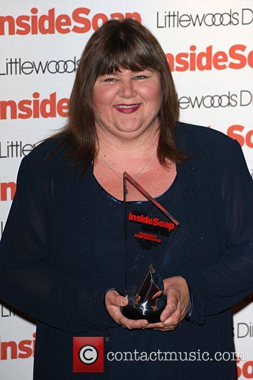 Cheryl Fergison, winner of funniest performance Inside Soap...