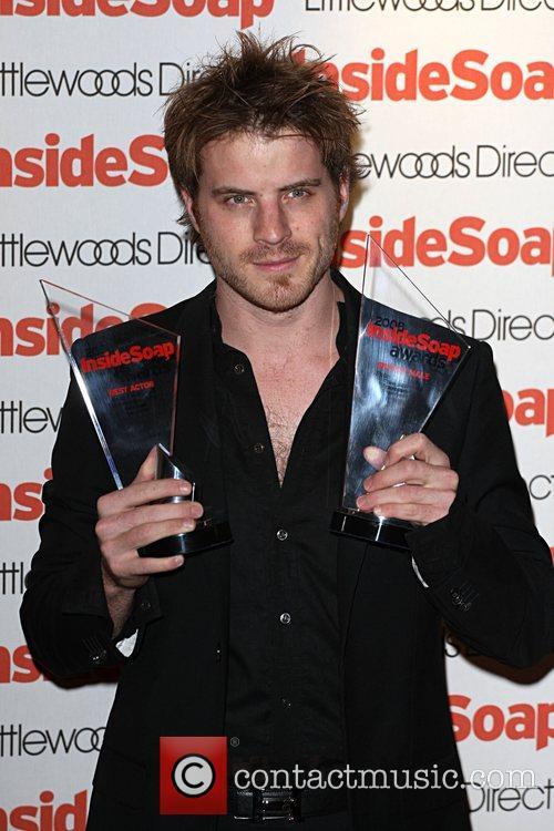 Robert Kazinsky, winner of best actor Inside Soap...