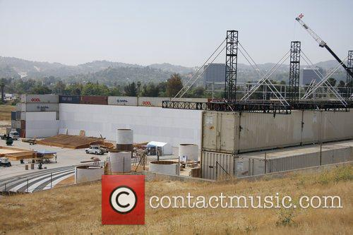 A Massive Construction Project In The Foot Of A Huge Dam Which Is Being Used For The Set Of Upcoming Movie 'iron Man 2' 4