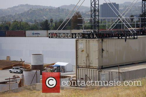 A Massive Construction Project In The Foot Of A Huge Dam Which Is Being Used For The Set Of Upcoming Movie 'iron Man 2' 5