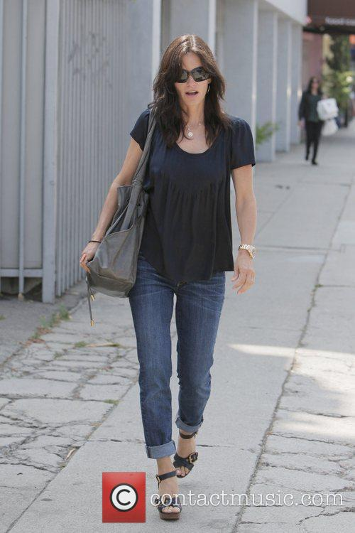 Courteney Cox leaving Joan's On Third after having...