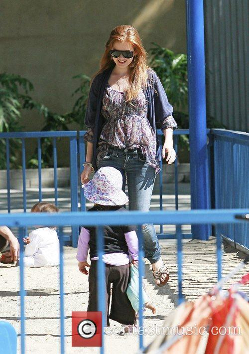 Isla Fisher and her daughter Olive Cohen spend...