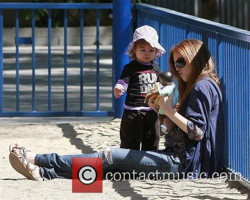 Isla Fisher and her daughter Olive Cohen share...
