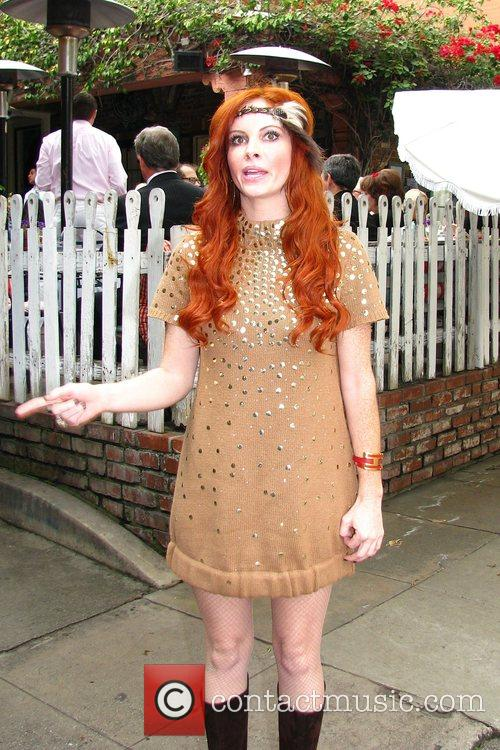Phoebe Price at the Ivy restaurant filming a...
