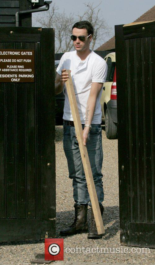 Outside his wife Jade Goody's house. Jade was...