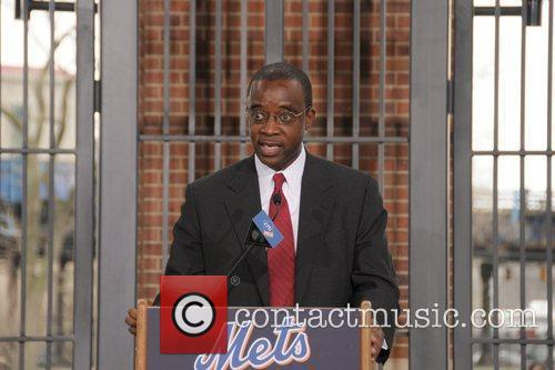 Speaker Jackie Robinson Rotunda dedication at Citi Field...