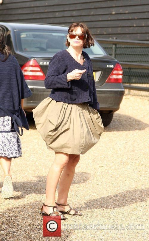 Jackiey Budden outside her daughter Jade Goody's house...