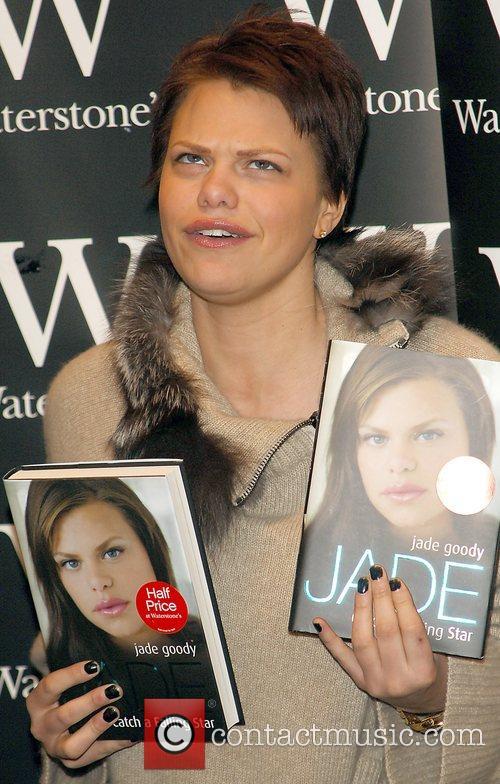 Big Brother star Jade Goody signs copies of...