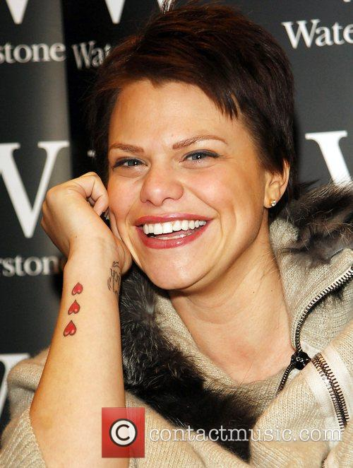 Big Brother star Jade Goody signs copies of...