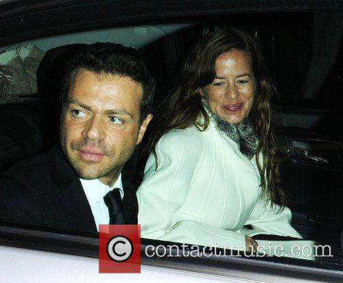 Fabrizio Politi and Jade Jagger in high spirits...