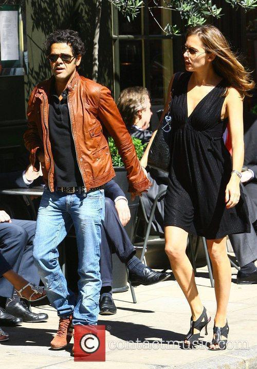 French Actor Jamel Debbouze Has Lunch With His Wife Melissa Theuriau 1