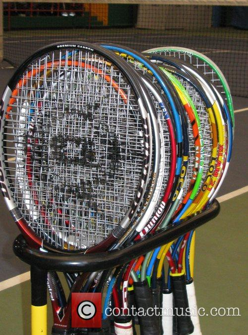 Tennis racquets 'Serving up the Holidays' fundraising event...