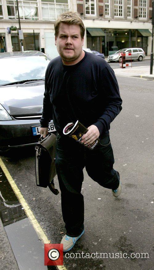 James Corden arrives at the Radio 1 studios...