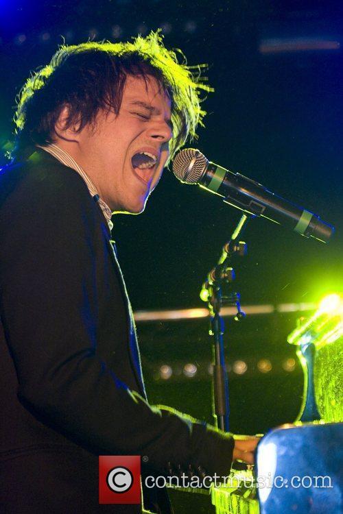 Performing live at MIDEM held at the Palais...