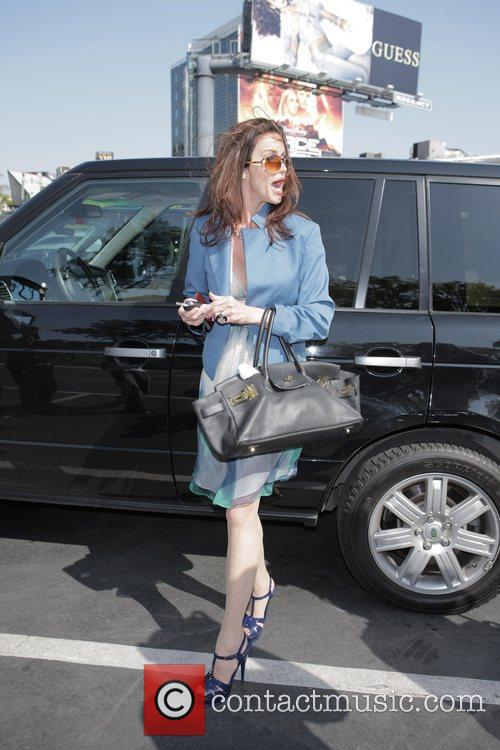 Janice Dickinson is harrassed by photographers as she...