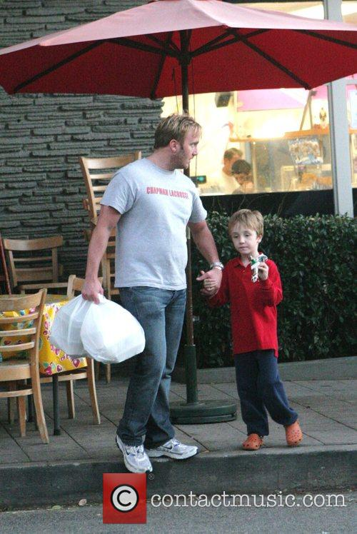 Jay Mohr and his son Jackson  pick...